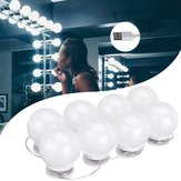 DC5V USB Hollywood Style LED Mirror Makeup Party Light with 8 Dimmable White Bulb for Dressing Room