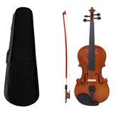 Акустическая скрипка разного размера из липы с смычком Чехол для начинающих со скрипкой