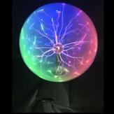 Lampada da tavolo a controllo vocale elettrostatico a sfera al plasma da 8 pollici con luce magica