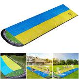 480x140 cm Opblaasbare Glijbaan Grote Dubbele Racer Zwembad Surfen Kinderen Zomer Outdoor Tuin Game Gift