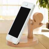 Universal Unique Wooden Kongfu Style Holder Kongfu Kid Phone Stand for iPhone 7 Samsung S8