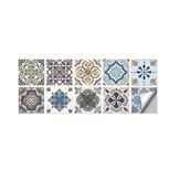 10 PCS 10x10/15x15/20x20cm Wall Tiles Stickers Kitchen Bathroom Toilet  Waterproof  PVC