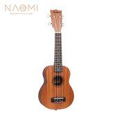 Ukulele Naomi Sapele Mahogany Ukulele 21 '' SopranoTenor Ukulele Guitarra acústica