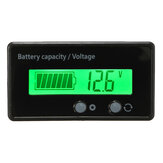 12V 6-63V LCD Acid Lead Lithium Batterij Capaciteits Indicator Digitale Voltmeter