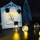 KCASA SSL-4 Gartenarbeit 3.5M 10LED Sonnenkollektor Licht Blub Urlaub Weihnachten Hochzeit Dekoration