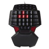 DeLUX T9 47 Key USB-Mini-Einhand-Gaming-Tastatur für PC-Laptop