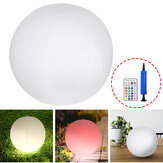 Solar Power Inflatable Ball LED Night Light Cordless Pool Floating Garden Decor