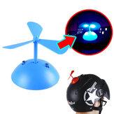 オートバイのヘルメット風力発電ルミナスバンブートンボリーフプロペラサクションカップフルフェイスヘルメット装飾