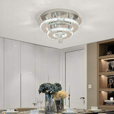AC165-265V 30CM Modern Chandelier Crystal Dimmable LED Ceiling Light With Remote Control for Indoor Fixture