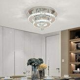 AC165-265V 30CM Moderne Kroonluchter Kristal Dimbare LED Plafondlamp Met Afstandsbediening voor Binnenarmatuur