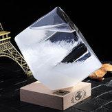 Weather Forecast Crystal Storm Glass Cube Shape Forecaster Bottle Barometer Decor Gift