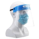 قناع الوجه درع قبعة واقية وقائية قابلة لإعادة الاستخدام واضحة يمكن التخلص منها سلامة درع عزل الوجه الكامل