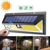Solar Power 180 COB LED PIR Motion Sensor Wall Light Outdoor Garden Yard Lamp Waterproof