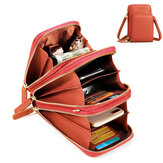 Women Solid Faux leather Clutch Bag Card Bag Phone Bag