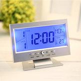 Sesli Kontrol Geri Işık LCD Alarm Saat Hava Durumu Monitör Zamanlayıcı Sesli Takvim Sensör Sıcaklık Süsü Masaüstü Masa Saat