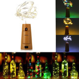 75cm 15 LED Cork Bottle Stopper Light Glass Wine Copper Wire Fairy String for Xmas Party Wedding