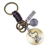 Retro Twelve constellation Woven Keychain