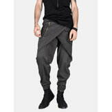 Mens Casual Baggy Street Pant Hippy Harem Drop Crotch Zipper Long Calças