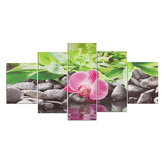 5Pcs HD Flower Canvas Paintings Wall Decorative Print Art Pictures Frameless Wall Hanging Decorations for Home Office