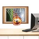 MiicoCreatieve3DFireVoetbalFrame PVC Verwijderbare Thuis Kamer Decoratieve Muur Floor Decor Sticker