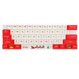 108 Keys Christmas Keycap Set OEM الملف الشخصي PBT صبغ التسامي Keycaps للوحة المفاتيح الميكانيكية