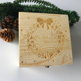 Christmas Decorations EVE BOX Christmas Wooden Carving Gift Box Creative Xmas Tree Box Chocolate Greeting Cards Apples Children Gift Box