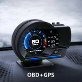 Smart Car OBD2 GPS Gauge HUD Head-Up Digital Display Speedometer Turbo RPM Alarm