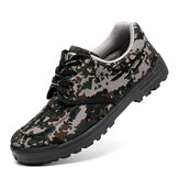 Men Camouflage Sneakers Site Slip Resistant Breathable Soft Work Style Shoes
