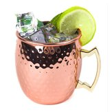 Roestvrij staal Koper Plated Moscow Mule Mok 18oz Cocktails Iced Tea rinking Cup