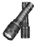 XANES® 1479A Lanterna tática XM-L2 500LM Luzes externas 3 modos Zoomable USB resistente à água recarregável para camping Caça Pesca
