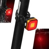 XANES TL07 COB DOPROWADZIŁO 6 trybów Bike Tail Light Wodoodporny USB Charging Warning Light