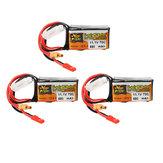 3 Pcs ZOP Power 11.1 V 550 mAh 70C 3S Lipo Bateria com JST XT30 Plug Para Eachine Lizard95 FPV Racer
