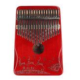 Hudební nástroj ZANI 17 Tone Mahagon Christmas Kalimba Thumbs Piano