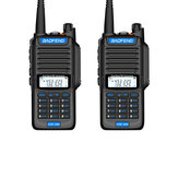 2 PCS BAOFENG UV9R-AMG 15W IP68 Waterproof UV Dual Band Two Way Handheld Radio Walkie Talkie 400-470MHz 128 Channels Blue Button Sea Land Hotel Civilian Intercom