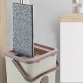 Płaskie mopy do czyszczenia Bezpłatna ręczna mopa do transportu Podłogi Wycisnąć płaski mop do środka do czyszczenia podłóg w kuchni domowej