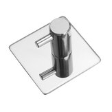 Stainless Steel Bathroom Robe Hooks Chrome Metal Towel Clothes Holder
