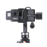 PT-6 For Gopro Vlog Plate with Mic Adapter for 3 Axis Gimbal Moza Mini S Smooth 4 Vimble 2 Vlogging Metal Case for Gopro 7/6