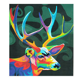 Multicolor Deer Oil Painting Set By Number Kit DIY Pigment Painting Art Hand Craft Tool