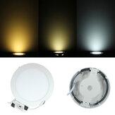 9w dimmable LED rodada teto painel para baixo luz lâmpada AC 85-265V