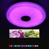 38CM 100-240V Wide Voltage Full Color Light bluetooth Music teto luz bluetooth APP + controle remoto