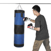 60/80/100/120cm Leather Boxing Training Punching Bag Hanging Empty Heavy Sandbag Boxing Target With Chain