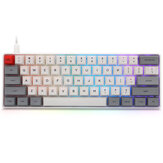 Geek Disesuaikan SK61 61 Tombol Keyboard Mekanik NKRO Gateron Sumbu Optik Type-C Lampu Latar RGB Kabel Putih Case Keyboard Gaming