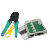 DANIU RJ45 RJ11 RJ12 CAT5 Rede LAN Tool Kit Cable Tester Crimp Alicate Crimper