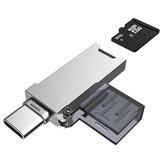 DM CR006 2-in-1 Type-C USB-TF-Kartenleser für Telefone Tablets Laptops