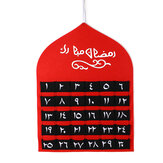 Kinderen Arabische MDF Ramadan adventskalender 30 zakken Eid Mubarak DIY huisdecor