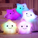Honana WX-222 Plush Colorido LED Luz Star forma Throw Pillow Início Sofa Party Decor Brinquedos Presente