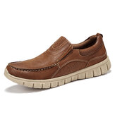 Menico Men Microfiber Leather Soft Sole Slip On Boat Shoes