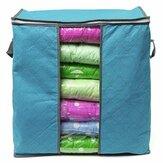 Foldable Clothes Storage Bag Pillow Blanket Quit Closet Organizer Pouch