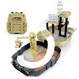 Simulation Parking Backpack Engineering Military Track Slide Elevator For Kids Educational Gift Toys
