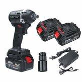 21V 630N.m Impatto elettrico strappo 3 in 1 senza spazzola A batteria LED Con 2 Batterie